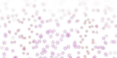 Light purple, pink vector abstract backdrop with leaves.