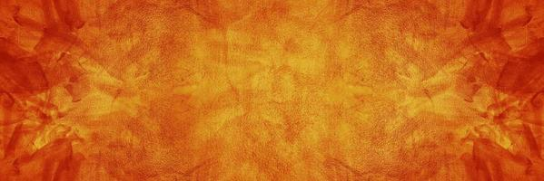 Orange cement or concrete wall for background or texture photo