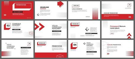 Presentation and slide layout template vector