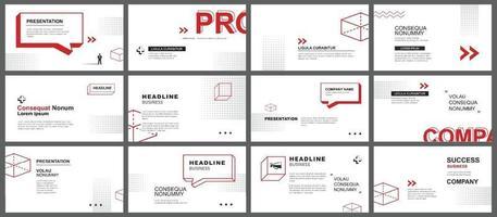 plantilla de presentación y diseño de diapositivas vector