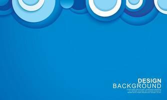 capa de papel círculo azul resumen antecedentes vector