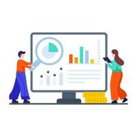 Business Presentation or Data Analysis Concept vector