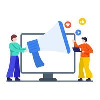 Social Media Promotion Concept vector