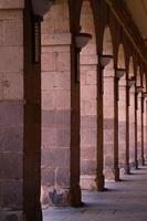 Column architecture on the street in Bilbao city, Spain photo