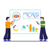Business Monitoring, Analysis or SEO Concept vector