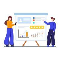 concepto de evaluación del desempeño de los empleados vector