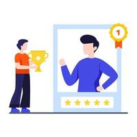 Employee of the Month Concept vector