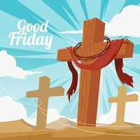 Good Friday Design vector