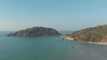 Small Palolem Island Reserve on the edge of Palolem Beach in Goa, India video