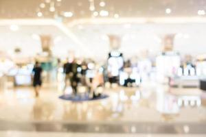 Abstract defocused shopping mall interior photo