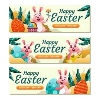 Happy Easter Day Discount Banner Template vector