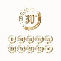 Ilustración de diseño de plantilla de vector de logotipo de celebración de 30 aniversario