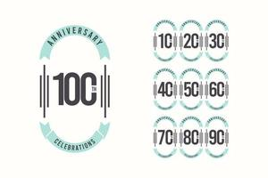 100 Th Anniversary Celebrations Elegant Vector Template Design Illustration