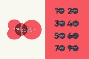 80 Years Anniversary Celebration Logo Vector Template Design Illustration