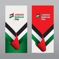 Happy Jordan Independence Day Celebration Vector Template Design Illustration