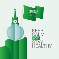 Keep Calm and Stay Healthy Vector Template Design Illustration