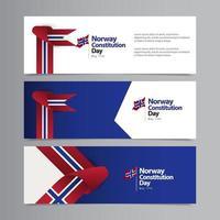 feliz día de la independencia de noruega celebración vector plantilla diseño ilustración