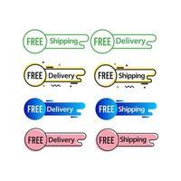 Ilustración de diseño de plantilla de vector de etiqueta de etiqueta de envío gratis entrega gratuita