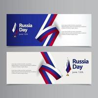 feliz día de la independencia de rusia celebración vector plantilla diseño ilustración