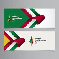 Happy Senegal Independence Day Celebration Vector Template Design Illustration