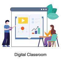 Digital or Virtual Classroom Concept vector