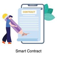 Signing Smart Contract Concept vector
