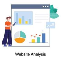 Male Web Analyst Concept vector