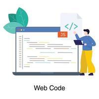 concepto de desarrollador web masculino vector
