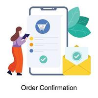 Order Confirmation Page Concept vector