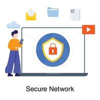 Network and Security Concept vector