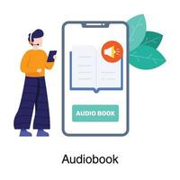 Audio Book or Lesson Set vector