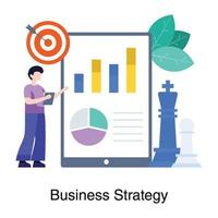 Business Strategy and Marketing Concept vector
