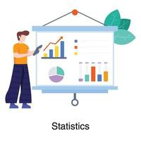 Male Data Analyst Concept vector