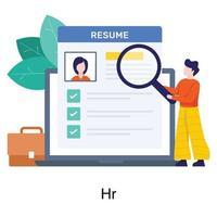 Online Human Resource Concept vector