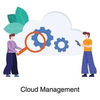concepto de plataforma de gestión en la nube vector