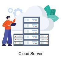 Data Center Manager Concept vector