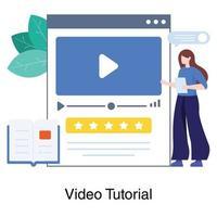 concepto de tutoriales de video en línea