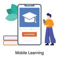 Online Learning App Concept vector