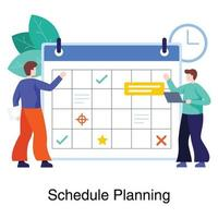 Work Planning and Scheduling Concept vector