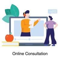 concepto de consulta educativa en línea vector