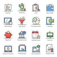 conjunto de finanzas y negocios digitales vector