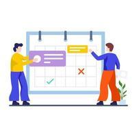 concepto de planificación y programación vector