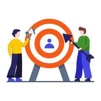 Targeting in Marketing Concept vector