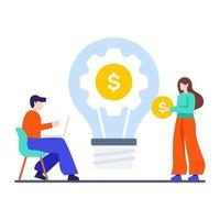 concepto de ideas de innovación empresarial vector