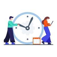 Working under Deadlines Concept vector