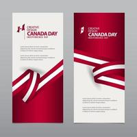 Happy Canada Independence Day Creative Design Vector Template Illustration