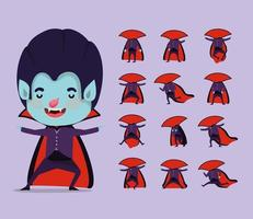 cute little boy in a vampire costume vector