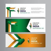 Happy India Independence Day Celebration Creative Design Vector Template Design Illustration