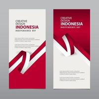 Happy Indonesia Independence Day Celebration Creative Market Vector Template Design Illustration