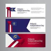 Happy Malaysia Independence Day Celebration Creative Market Vector Template Design Illustration
